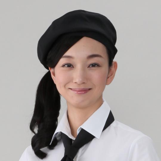 ベレー帽(E100%)[黒]